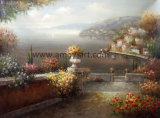Paisagem mediterrânica pintura a óleo Itália pinturas a óleo