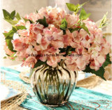 Hydrangea artificiale di colore del Hydrangea delle 2018 calce del Hydrangea del Hydrangea di seta gigante ricco del fiore per la decorazione dell'interno