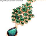 Forcella degli accessori dei capelli dei monili Diamante-Fissata retro smeraldo