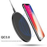 Samsung 주 8을%s iPhone x를 위한 iPhone 8 2017 보편적인 고속 Qi 무선 충전기를 위한 OEM 상표 Qi 빠른 무선 충전기