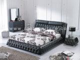 寝室の家具の革ベッドA853#