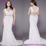 Rinestones 결혼 예복 소매 없는 호화스러운 신부 웨딩 드레스