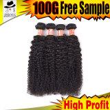 ロマンスのカールのバージンの北京の等級9Aのブラジルの毛の卸売