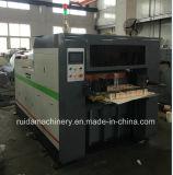 Máquina cortando do rolo para o sopro de papel
