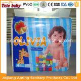 Couche-culotte remplaçable estampée bon marché en gros de bébé de configuration de dessin animé