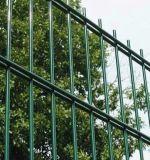 PVC上塗を施してある平らな二重鉄条網の堅いパネルの網の塀