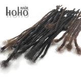 I capelli umani crespi di Afro Crochet di colore scuro di 14 pollici temono