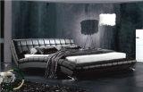 Einfaches moderner Entwurfs-hölzernes Bett mit Headboard