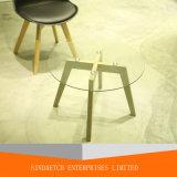 현대 디자인 거실 오크 나무로 되는 코너 옆 테이블