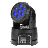 Mini bewegliches Hauptstadiums-Licht des Fachmann-7X15W RGBWA/UV 6in1 LED