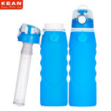 botella de agua reutilizable plegable del deporte de la Ancho-Boca de 1000ml 35oz