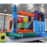 Partei-aufblasbarer Mietzeichenstift, der kombiniertes /Inflatable-federnd Schloss für Kinder springt