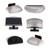 El sensor de movimiento solar de la lámpara 36 LED del montaje de la pared enciende las lámparas del jardín IP65 impermeables con ángulo ajustable