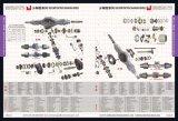 pièces de rechange Sinotruk chariot formant le flexible (WG9725470120)