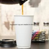 Белая бумага 16 Oz придает форму чашки большой для кофеего, чая, горячего какаа