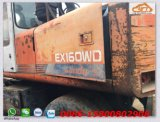 Excavador hidráulico usado de la rueda de Hitachi Ex160wd/Ex100wd