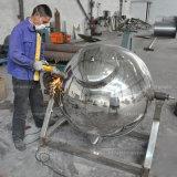 Atasco industrial del tomate de la calefacción de gas del acero inoxidable que cocina el crisol