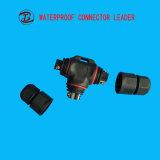 多種多様PVC/Nylon/Metal 3 Pin LED防水Tのコネクター
