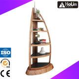 Mensola di libro a forma di del crogiolo di legno domestico di mobilia per visualizzazione