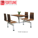 Venda por grosso de madeira com design moderno chineses mesa para restaurante/cantina (FOH-CBC08)