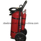 Carro extintor de polvo de 50kg.