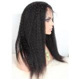Парик волос Dlme черный Kinky прямой теплостойкmNs синтетический