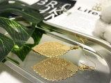 Oorring van de Daling van het Blad van de Bladeren van de Vrouwen van de bevordering Trendy Gouden Koperachtige
