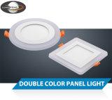 LED 두 배 색깔 6W 정연한 위원회 빛
