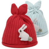 Chapéu feito sob encomenda do inverno do Beanie da forma com logotipo do coelho