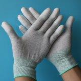 Противостатическая серая перчатка ESD цвета с покрытием PU