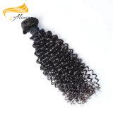 La extensión de cabello rizado brasileño Remy la cutícula del cabello Cabello alineado
