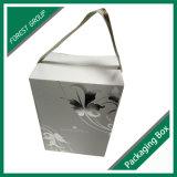 Boîte de papier ridée par impression chaude à vin de clinquant avec le traitement de bande