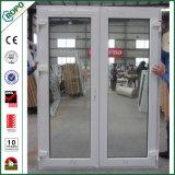 UPVC de Dubbele Franse Deur van uitstekende kwaliteit van de Gordijnstof Doors/UPVC voor Huis