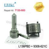 Kit de réparation de l'injecteur 7135-660 Erikc 7135 660 y compris la soupape de carburant 9308621c + la buse de pulvérisation L136pbd 7135660 pour Ejbr03001D /Ejbr02501z l'injecteur
