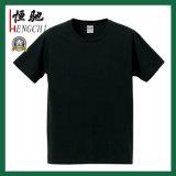 Cheap promotionnels personnalisés coton bleu T-shirt col rond