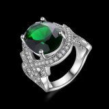 De imitatie Verlovingsring van de Vrouwen van de Diamant van Juwelen Witgoud Geplateerde