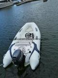Pequeño barco rígido de la costilla de la pesca de la fibra de vidrio del casco de Liya el 12.5FT