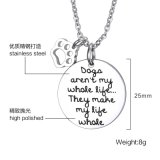 Cadeau Accessoires de Mode bijoux collier pendentif en argent en acier inoxydable