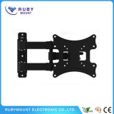 中国の製造業者の調節可能で黒いフルモーションの旋回装置TVブラケット
