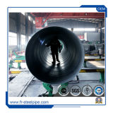 API 5L X42 X60 X65 X70 X52 1000mm 대직경은 SSAW 탄소 나선에 의하여 용접된 강관을 주름을 잡았다