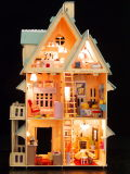 DIY Wooden Fraud Wooden House Dream House with Education