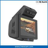120程度DVR車のカメラの中の二重レンズのダッシュカムFHD 1080Pブラックボックス