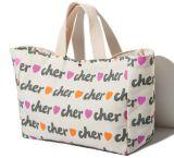 Plein écran La poignée de sacs en toile de coton d'impression, sac d'emballage