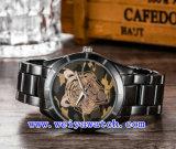 Reloj de encargo del cuarzo de la voga del acero inoxidable de la insignia (WY-G17017A)