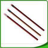Crayon en bois rouge de piste de Hexo d'HB de bureau d'élève d'école avec la gomme à effacer