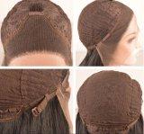 Высокая плотность синтетических Kinky фигурные боковой части кружева передней парики