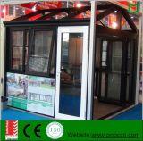 Porte en aluminium bon marché de tissu pour rideaux avec le double vitrage fabriqué en Chine