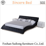 Lb1109 진짜 가죽 현대 침대
