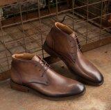 Suela exterior de la calidad de coloridos botas de invierno gamuza de cuero para hombres