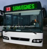 Línea Sinlge letreros LED ámbar para Bus